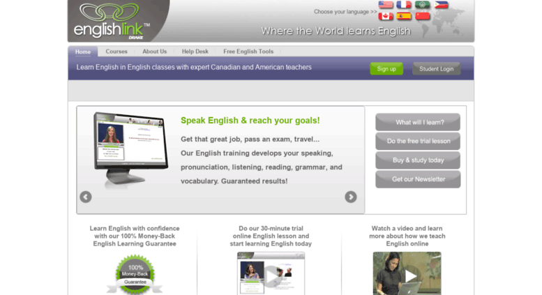 Access englishlink com  Learn English Online, Free English Lessons