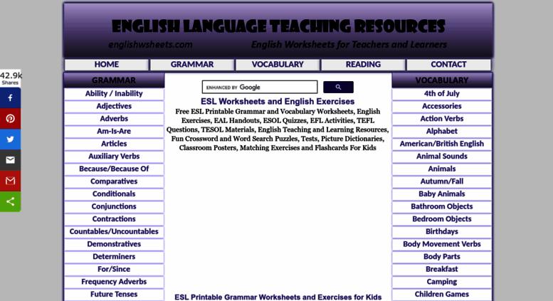 Access englishwsheets com  Free ESL Printable Worksheets EFL