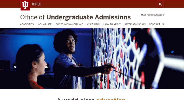Iupui Financial Aid >> Access Enroll Iupui Edu Office Of Undergraduate Admissions