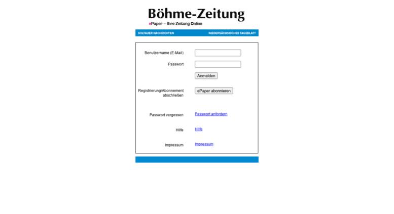 Access Epaperboehme Zeitungde Böhme Zeitung Epaper Login