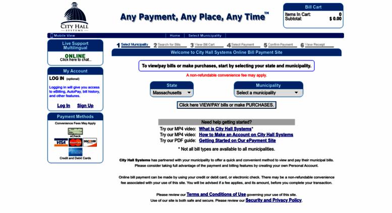 epay.cityhallsystems.com screenshot