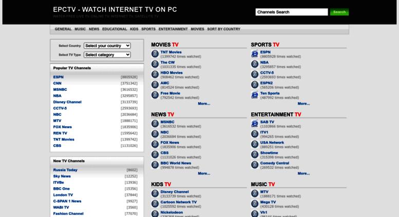 Access epctv com  Internet TV,Online TV,Watch Free Internet TV on PC