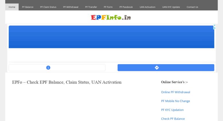 Access epfinfo in  EPFo – Check EPF Balance, Claim Status, UAN
