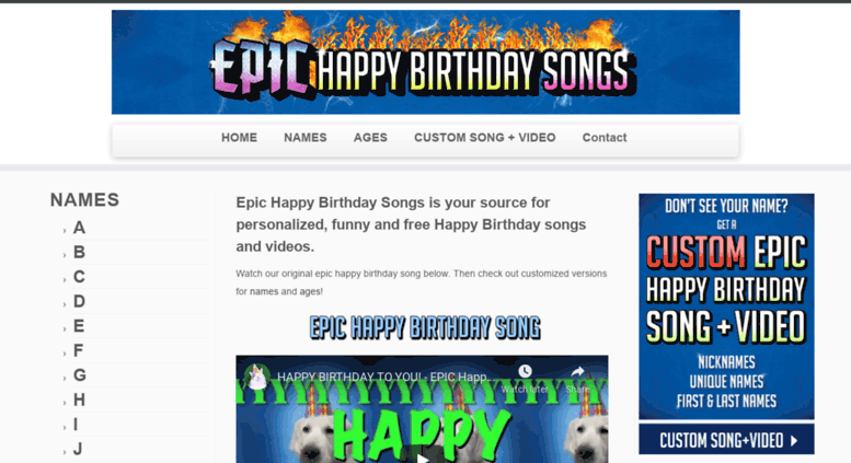 Access epichappybirthdaysongs com  EPIC Happy Birthday Song with Names!