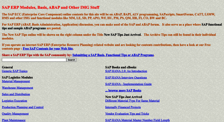 Access erpgreat com  SAP ERP Modules, Basis, ABAP and Other