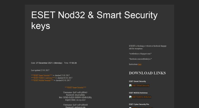 eset nod32 free key facebook