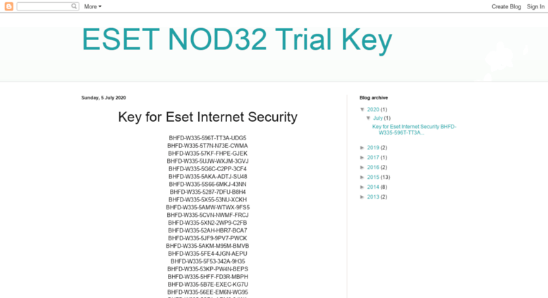eset nod32 license keys 2018