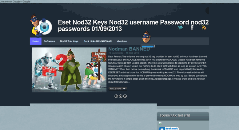 nod32 username and password trial