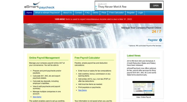 access esmartpaycheck com esmart paycheck calculator free payroll