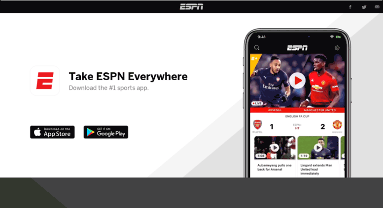 Access espnmobile com  ESPN App - Download on iOS App Store