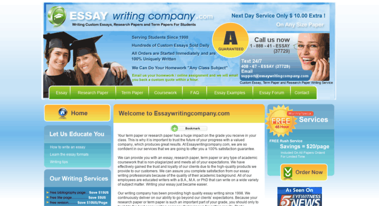 Cheap homework writers websites for college