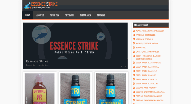 essencestrike.com screenshot