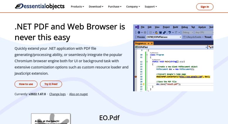 Access essentialobjects com  Advanced ASP NET, PDF, WPF and