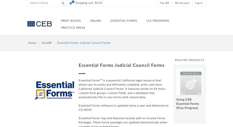 Access essentialpublishers com  Essential Forms Judicial