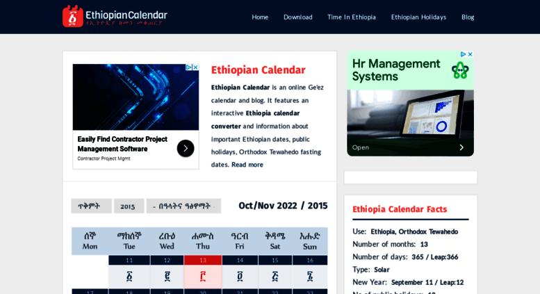 Access Ethiopiancalendar Net Ethiopian Calendar Online Ethiopian