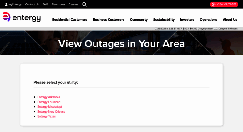 Access etrviewoutage com  View Outages in Your Area | Entergy | We