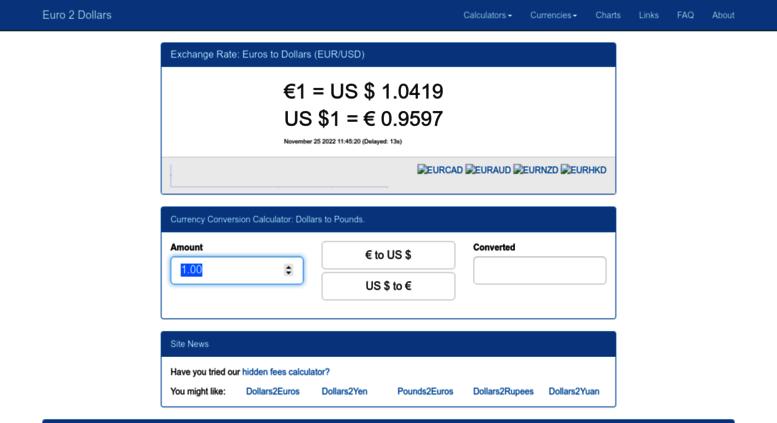 Euro2dollars Screenshot