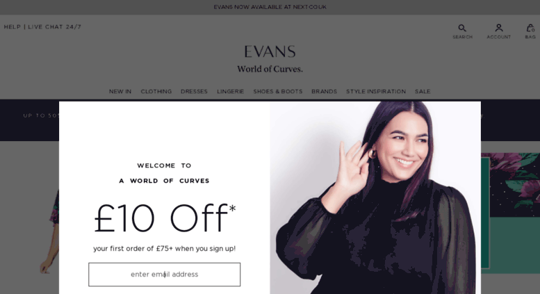 8acc89a160 Access evans.co.uk. Evans-Shop Plus Size & Curve Clothing in sizes ...