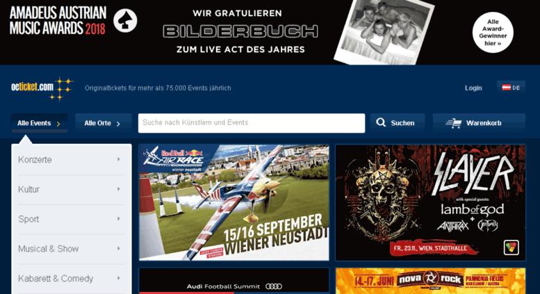 Access Eventimat Oeticketcom Tickets Für Mehr Als 75000 Events