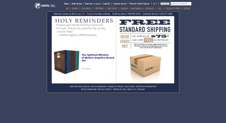 Access ewtnreligiouscatalog com  Online Catholic Store-EWTN