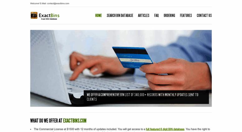 Access exactbins com  BIN Database | BIN lookup | BIN list