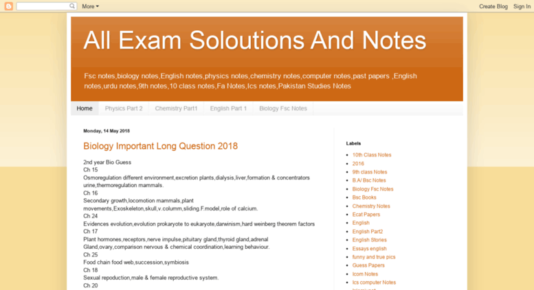Access examssolution blogspot com  All Exam Soloutions And Notes