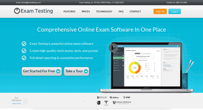 Access examtesting com  Online Exam Software | Quiz Maker | Test