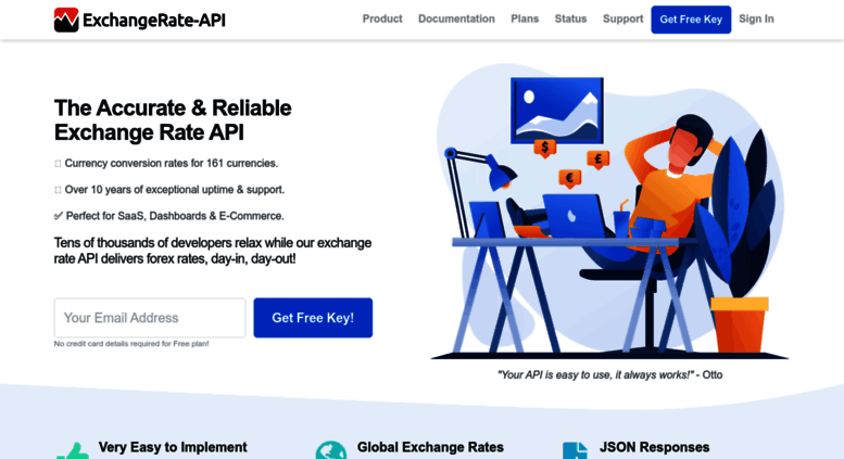 Access exchangerate-api com  ExchangeRate-API - The Reliable
