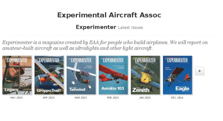 Access experimenter epubxp com  Experimental Aircraft Assoc