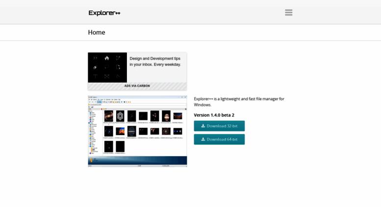 Access explorerplusplus com  Explorer++ - A small and fast