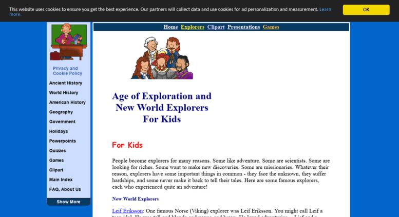Access explorers mrdonn org  Explorers for Kids and Teachers - Free