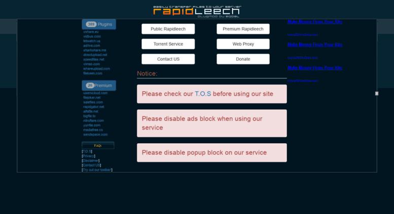 Access exrapidleech info  EXRapidleech - Free Uploaded Premium Link
