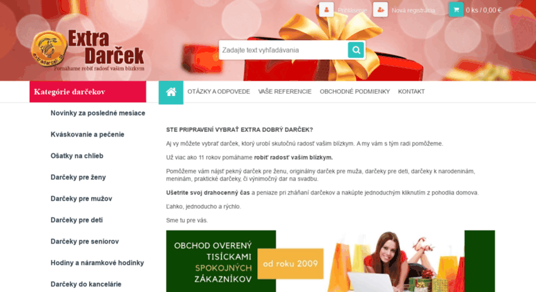 Access extradarcek.sk. EXTRADARCEK.sk   darčeky pre každého ... be99b89cd35