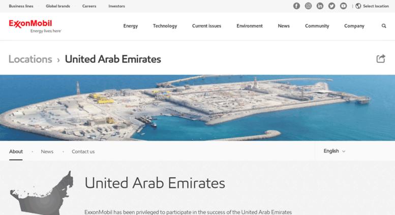 Access exxonmobil ae  United Arab Emirates operations