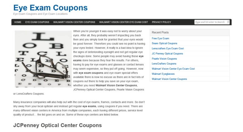 photograph relating to Lenscrafters Printable Coupons referred to as Arrive at . Eye Examination Discount codes