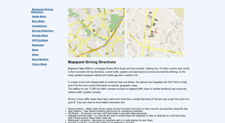 Access ezdrivingdirections.com. MapQuest | Driving Directions on