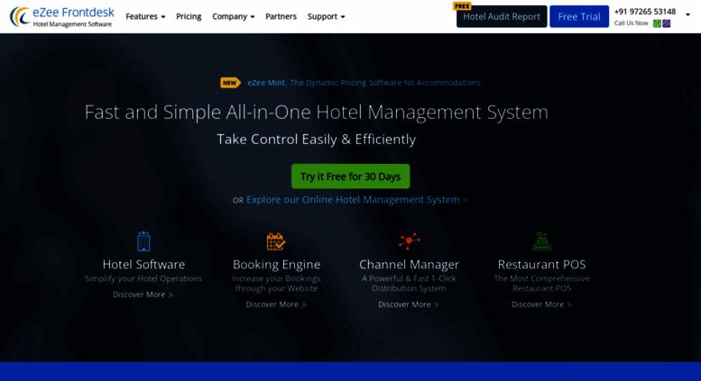 Access ezeefrontdesk com  eZee PMS #1 Hotel Software System