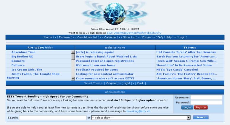 Access eztv unblock al  EZTV - TV Torrents Online Series