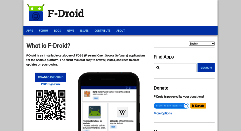 Access f-droid org  F-Droid - Free and Open Source Android