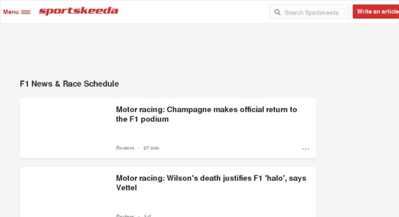 Access f1 sportskeeda com  Latest F1 News, Schedule and Live