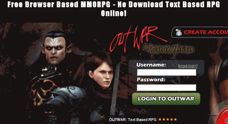 Access fabar outwar com  Outwar   Free Browser Based MMORPG