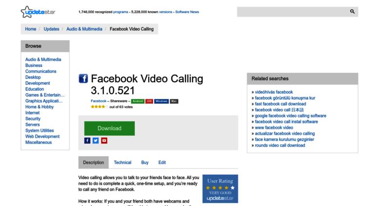 facebook video calling plugin free download