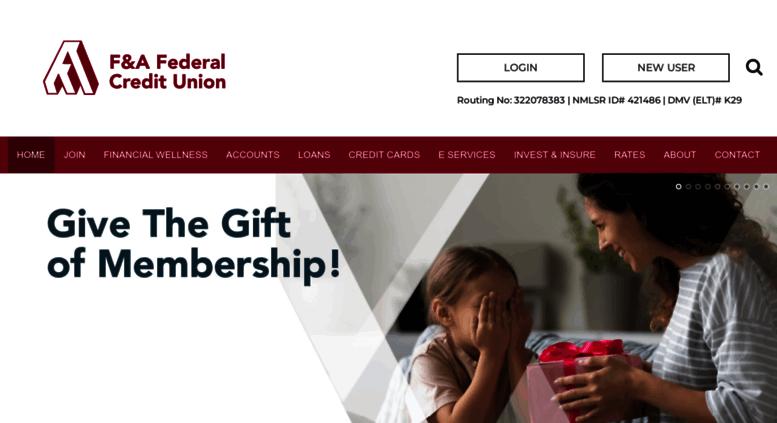 Access Fafcu Org F A Federal Credit Union Monterey Park Ca