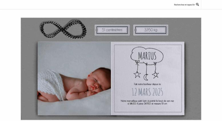 Faire Part Naissance.org Screenshot