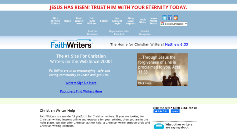 freelance christian writing websites