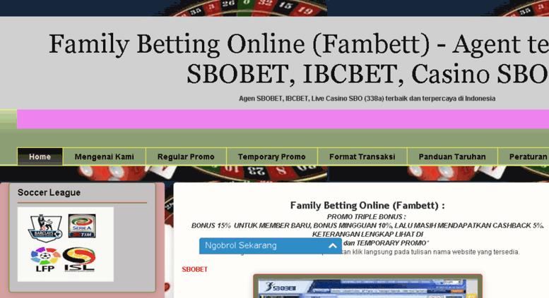 Access Fambett Com Fambett Agent Terbaik Sbobet Ibcbet 338a