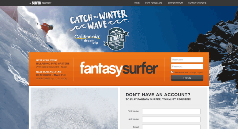 Access Fantasy Surfermag Com Fantasy Surfer By Surfer Magazine