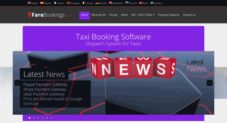 Access farebookings com  Taxi Booking Software - Taxi System and