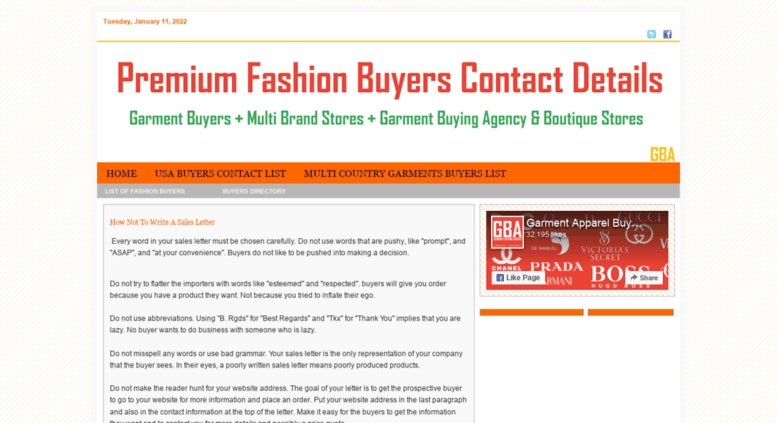 usa garment buyers contact details i want garments buyer