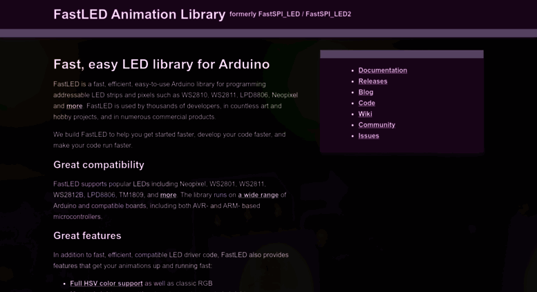 Access fastled io  FastLED LED animation library for Arduino
